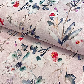 Decoration fabric Aubepine rose