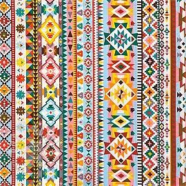 Decoration fabric Aztec pattern