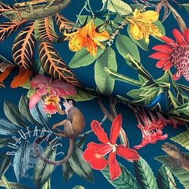 Decoration fabric Borabora petrole