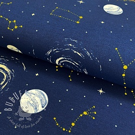 Decoration fabric Comets glow in the dark