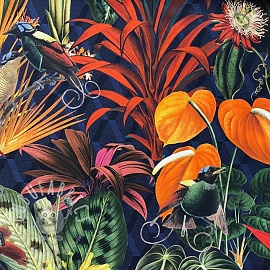 Decoration fabric Dark Jungle digital print