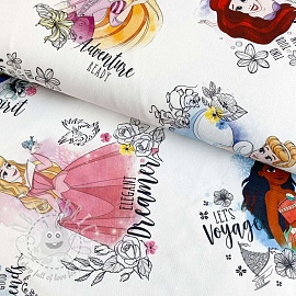 Decoration fabric Disney Princess flowers digital print