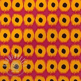 Decoration fabric Dots fuchsia