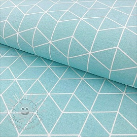 Decoration fabric DOUBLE Cube pastel blue