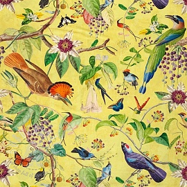 Decoration fabric Floral Birds digital print