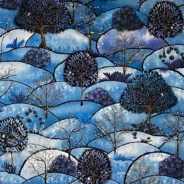 Decoration fabric Forest hill winter digital print