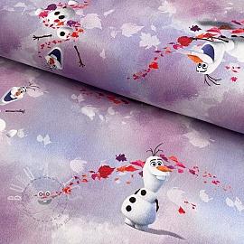 Decoration fabric Frozen Anna and Elsa Olaf digital print