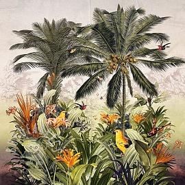 Decoration fabric Garden of Eden digital print PANEL