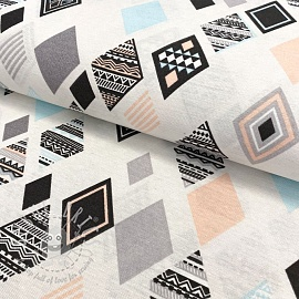 Decoration fabric Geometric pastel