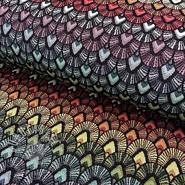 Decoration fabric GOBELIN Bow Parade black