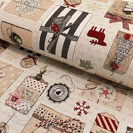 Decoration fabric GOBELIN CHRISTMAS