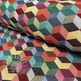 Decoration fabric GOBELIN COLOURFUL CUBE