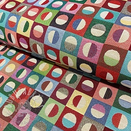 Decoration fabric GOBELIN COLOURFUL DOTS