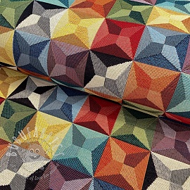 Decoration fabric GOBELIN Colourful stars
