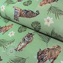 Decoration fabric GOBELIN TROPICAL TIGER