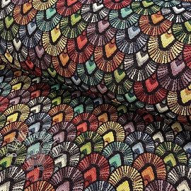 Decoration fabric GOBELIN Unity Parade black
