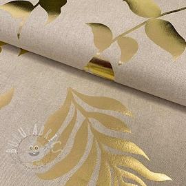 Decoration fabric Greenhouse leaf metallic premium