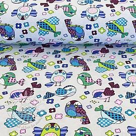 Decoration fabric Happy bird