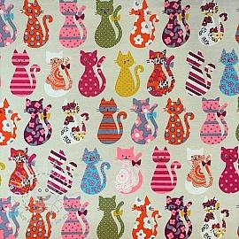 Decoration fabric Happy kitten