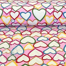 Decoration fabric Hearts