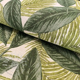Decoration fabric jacquard Botanical leaves