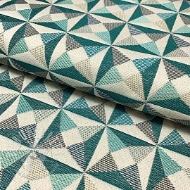 Decoration fabric jacquard Cinetique celadon