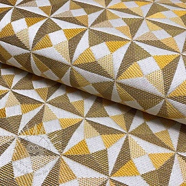 Decoration fabric jacquard Cinetique gold