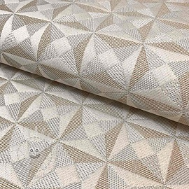 Decoration fabric jacquard Cinetique perle