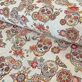 Decoration fabric jacquard CRISTOBAL blanc