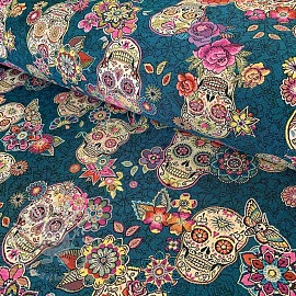 Decoration fabric jacquard CRISTOBAL canard