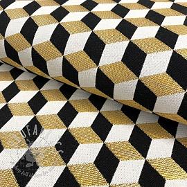 Decoration fabric jacquard Cube metallic deluxe