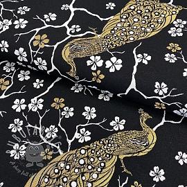 Decoration fabric jacquard Peacock blossom metallic deluxe