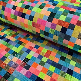 Decoration fabric jacquard Pixels