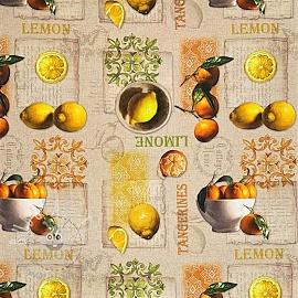Decoration fabric Lemon and tangerines digital print