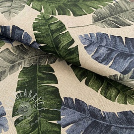 Decoration fabric Linenlook Banana leaf