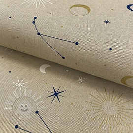 Decoration fabric Linenlook Constellations