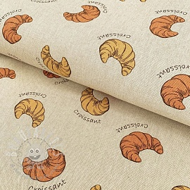 Decoration fabric Linenlook Croissants
