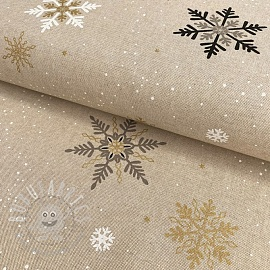 Decoration fabric Linenlook Crystal Ice Star