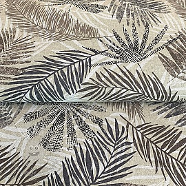Decoration fabric Linenlook Ethnic Wild Leaves
