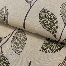Decoration fabric Linenlook Favourite Leaves
