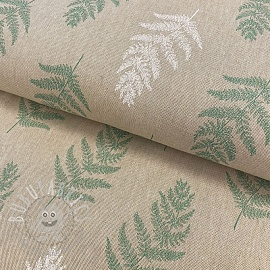 Decoration fabric Linenlook Fragile Fern