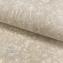 Decoration fabric Linenlook Meadow
