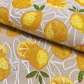 Decoration fabric Linenlook Mediterranean