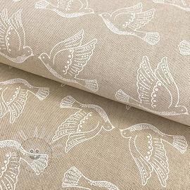 Decoration fabric Linenlook Peace dove iconic