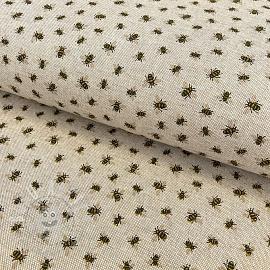 Decoration fabric Linenlook premium Bee family