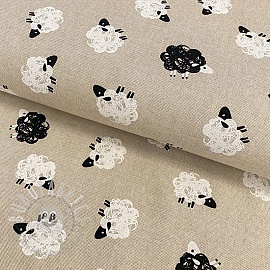 Decoration fabric Linenlook premium Black sheep