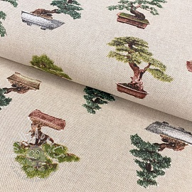 Decoration fabric Linenlook premium Bonsai