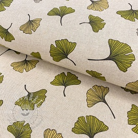 Decoration fabric Linenlook premium Ginko leaf