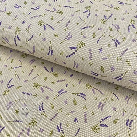 Decoration fabric Linenlook premium Lavender Flavour