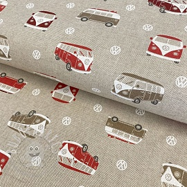 Decoration fabric Linenlook Premium VW Surfing Holidays
